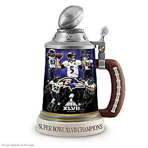 Baltimore Ravens Super Bowl XLVII Champions Stein