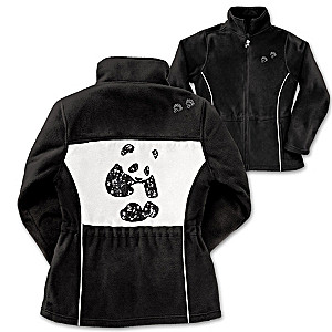 Sequined Panda Fleece Jacket Supports Wildlife Preservation