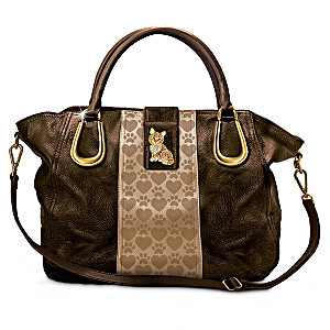 """Kitty Chic"" Satchel-Style Cross-Body Handbag"