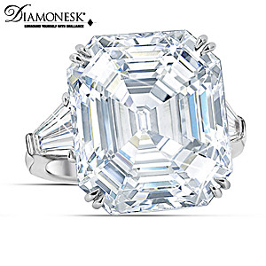 """Hollywood Royalty"" Sterling Silver Diamonesk Ring"