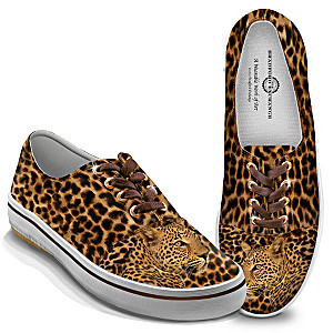 """Leopard Luxe"" Women's Sneakers With Custom Leopard Print"