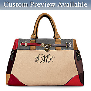 """My Personal Style"" Satchel Embroidered With Monogram"