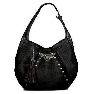 Rock 'N' Roll Hobo-Style Handbag With Rhinestones