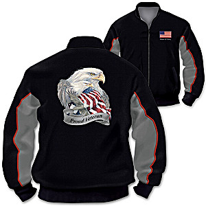 """Veterans Salute"" Men's Jacket With Jody Bergsma Eagle Art"