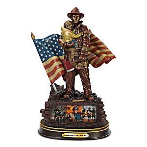 """Glen Green """"Commitment To Courage"""" Bronze Sculpture"""
