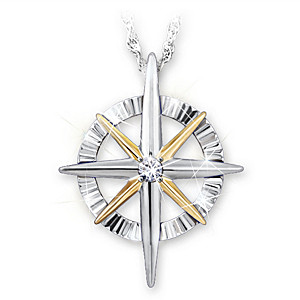 """Light Of Faith"" Diamond Pendant Necklace For Granddaughter"