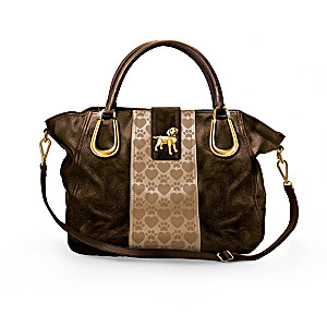 """Lab Love"" Satchel-Style Handbag With Lab Charm"