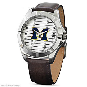Michigan Wolverines Stainless Steel Commemorative Watch