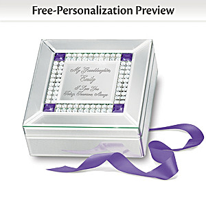 Granddaughter, I Love You Name-Engraved Birthstone Music Box