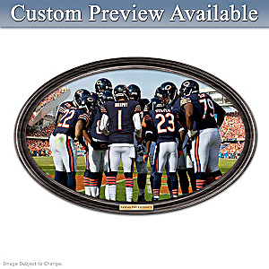 Bears Framed Wall Decor With Your Name On QB's Jersey