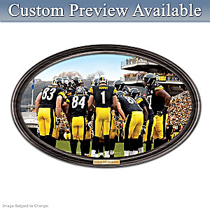 Steelers Framed Wall Decor With Your Name On QB's Jersey