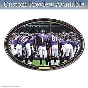 Ravens Framed Wall Decor With Your Name On QB's Jersey