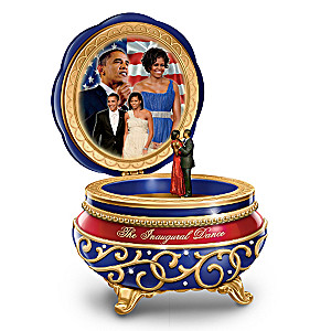 """Barack And Michelle: The Inaugural Dance"" Music Box"