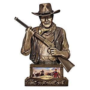 """John Wayne, Guardian"" Sculpted Western-Style Coin Bank"
