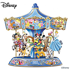 """Wonderful World Of Disney"" Musical Rotating Carousel"
