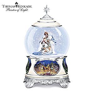 Thomas Kinkade Lighted Nativity Snowglobe With Narration