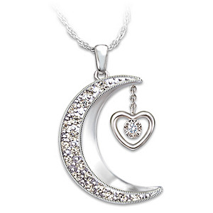 """I Love You To The Moon And Back"" Daughter Diamond Pendant"