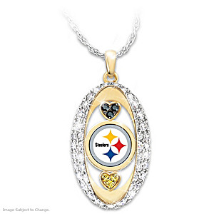 """""""For The Love Of The Game"""" Pittsburgh Steelers Pendant"""