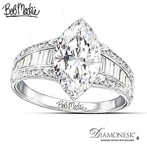 "Bob Mackie ""Art Deco"" 8-Carat Diamonesk Ring"