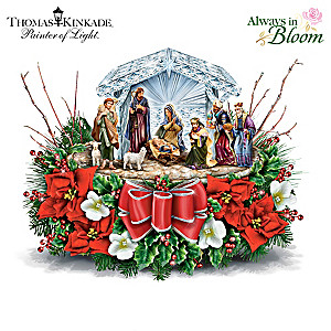Nativity Crystal Centerpiece Inspired By Thomas Kinkade