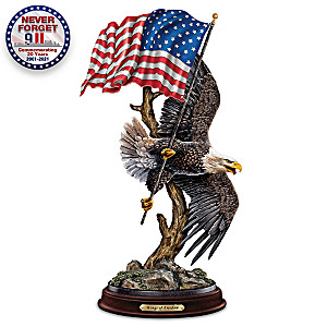 """Ted Blaylock """"Wings Of Freedom"""" Bald Eagle Sculpture"""