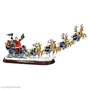"""A Seahawks Merry Christmas!"" Santa Claus Sculpture"