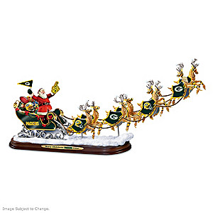 """""""A Packers Merry Christmas!"""" Santa Claus Sculpture"""