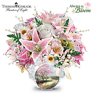 Thomas Kinkade Treasured Moments Lighted Crystal Centerpiece