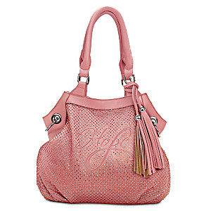"""Shimmering Hope"" Breast Cancer Awareness Designer Handbag"