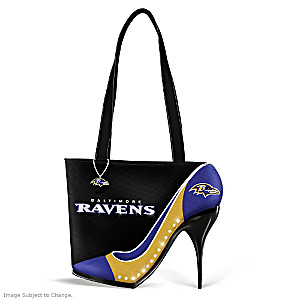 "Baltimore Ravens ""Kick Up Your Heels"" Handbag"