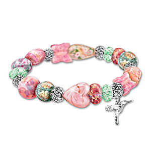 "Lena Liu's ""Garden Of Beauty"" Glass Beaded Bracelet"
