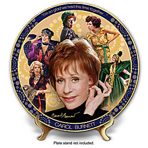 "Carol Burnett ""Timeless Comedy"" Porcelain Collector Plate"