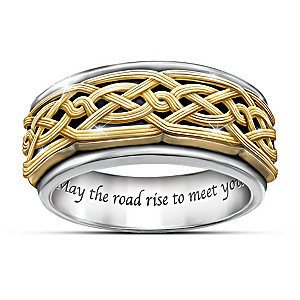 """Celtic Traditions"" Men's Spinning Ring"