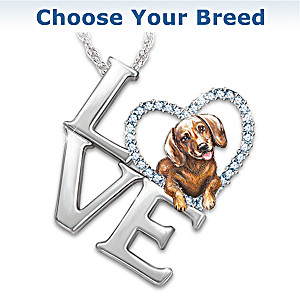 Loving Companion Choose Your Breed Dog Pendant Necklace