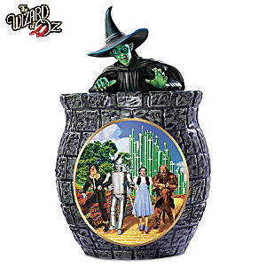 THE WIZARD OF OZ Cookie Jar With Free Cookie Cutter & Recipe