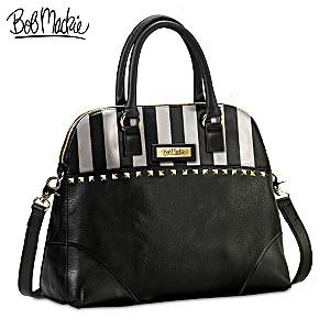 "Bob Mackie ""Beverly Hills"" Designer Leather Satchel"