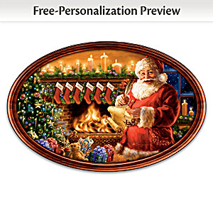 """Cherished Christmas Memories"" Personalized Framed Plate"