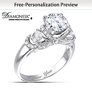 """Once Upon A Romance"" Personalized Diamonesk Bridal Ring"