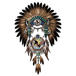 "Ted Blaylock ""Soaring Sentinels"" Headdress And Dreamcatcher"
