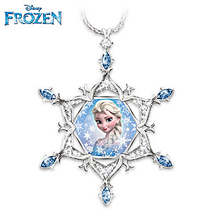 Disney FROZEN Crystal Snowflake Pendant With Diamond