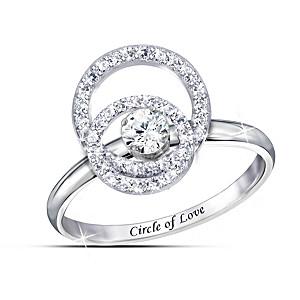 Bradford Exchange Circle Of Love Ring