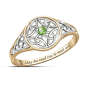 """Celtic Beauty"" Peridot Women's Ring"