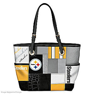 Steelers For The Love Of The Game Tote Bag With Team Logos