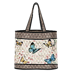 """Lena Liu """"Wings Of Inspiration"""" Butterfly Art Tote Bag"""