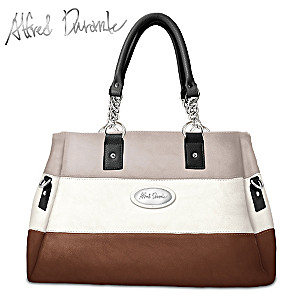 "Alfred Durante ""Astoria"" Stripe Satchel Handbag"