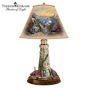 "Thomas Kinkade ""The Village Lighthouse"" Tabletop Lamp"