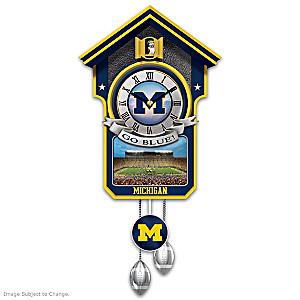 University Of Michigan Wolverines Wall Clock
