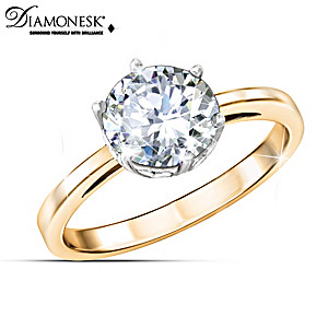 """Michelle Obama """"First Lady Style"""" Diamonesk Engagement Ring"""