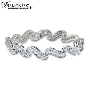 """Classic Elegance"" 25-Carat Diamonesk Bracelet"