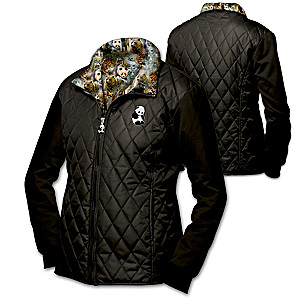 """Protect The Wild"" Quilted Jacket With Wildlife Art Lining"